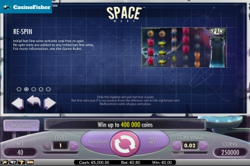 Space Wars casino games