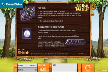 Big Bad Wolf no deposit bonus