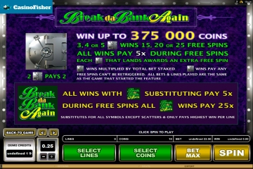 Break da Bank Again casino games