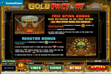 best Gold Factory casinos