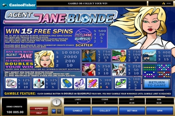 Agent Jane Blonde casino games