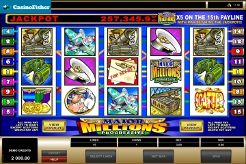 Major Millions free spins