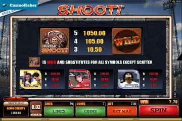 Shoot! casino games
