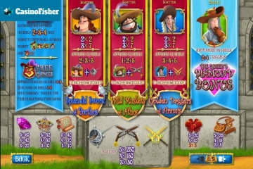 The Three Musketeers and the Queen's Diamond (Playtech) slot