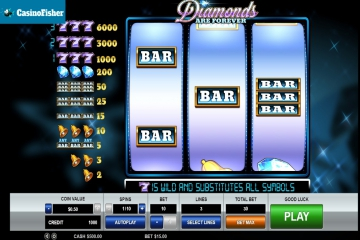 Diamonds are Forever 3 Lines slot