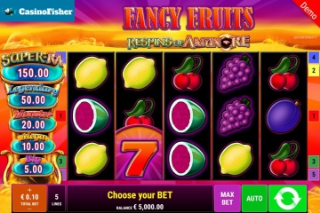 Fancy Fruits Respins Of Amun-Re slot