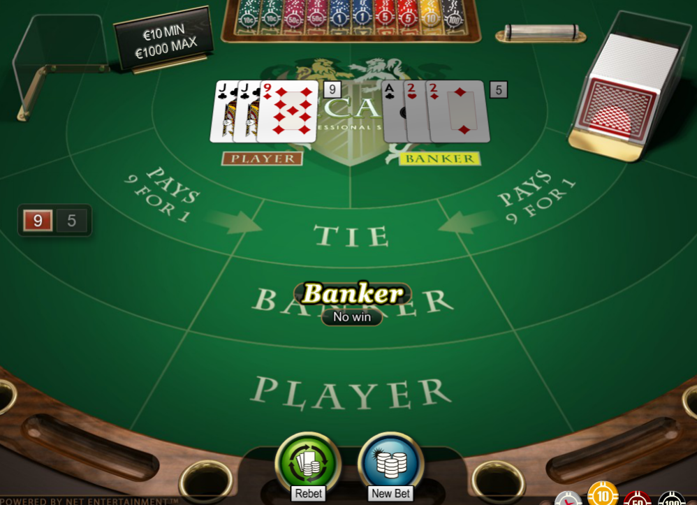 Baccarat Online at CasinoFisher